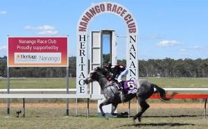 Pass the finishing post at Nanango Races