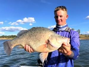 Lachlan Wheeler with a Monster 65cm Yellow belly from Boondooma